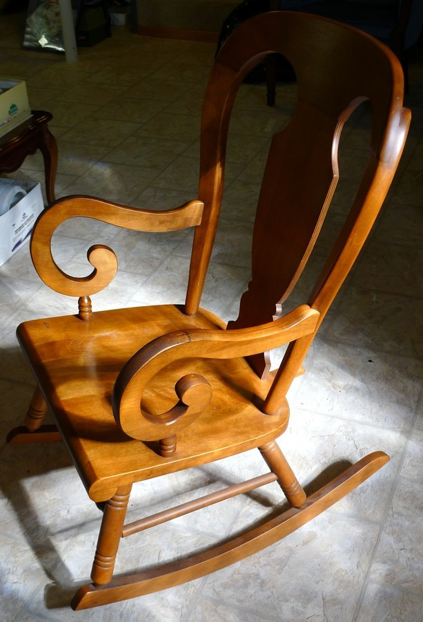 Tell City 684 12 Rocking Chair With Andover Finish 48  My Antique Furniture Collection