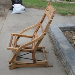 Sikes Chair Company Massage Pad Rocking-chair   My Antique Furniture Collection