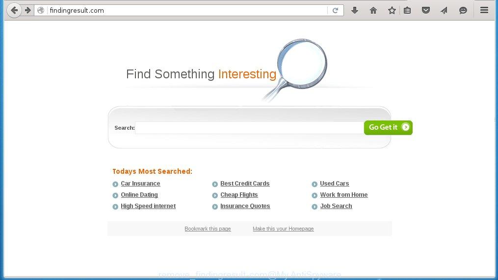 How to manually remove Findingresult.com (Chrome, Firefox