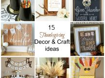 Fabulous Finds Friday - 15 Thanksgiving Decor & Craft ...