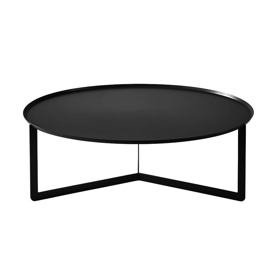 meme design table basse pour exterieur round 5 outdoor noir metal