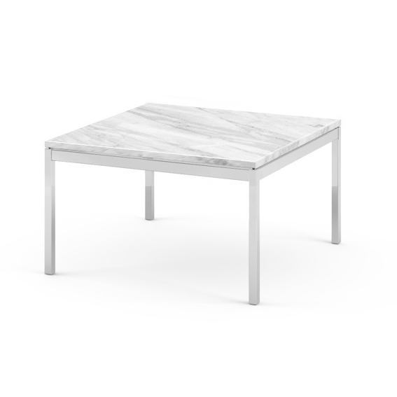 knoll coffee table florence knoll 60 x 60 x h 35 cm statuarietto marble polished chrome stainless steel