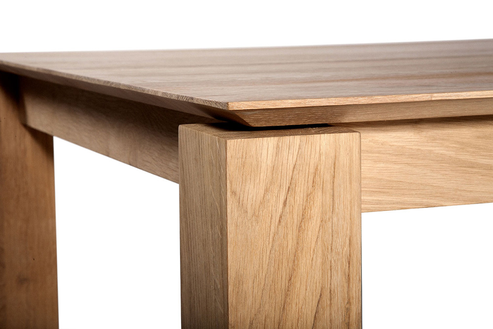 ethnicraft extensible table slice 140 220 cm natural oak