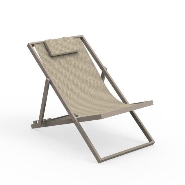 talenti transat bain de soleil chaise longue d exterieur touch collection piutrentanove dove aluminium verni et tissu