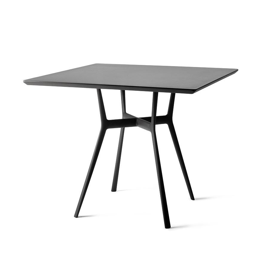 tribu table bistrot 80x80 cm d exterieur branch wenge aluminium