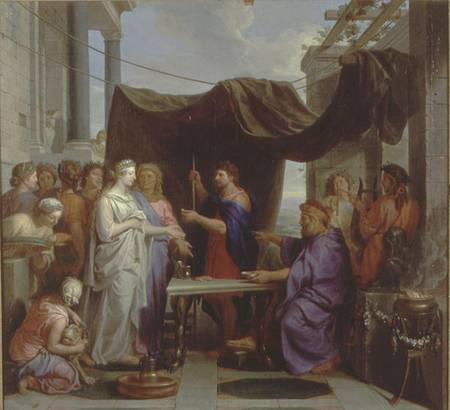 The Wedding of Moses and Zipporah pair  Charles Le Brun as art print or hand painted oil