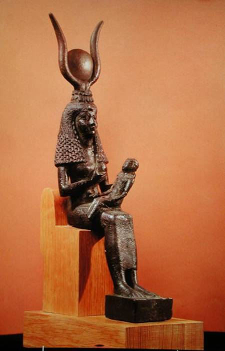 Picture of Isis and Horus statue (Ancient Egypt)