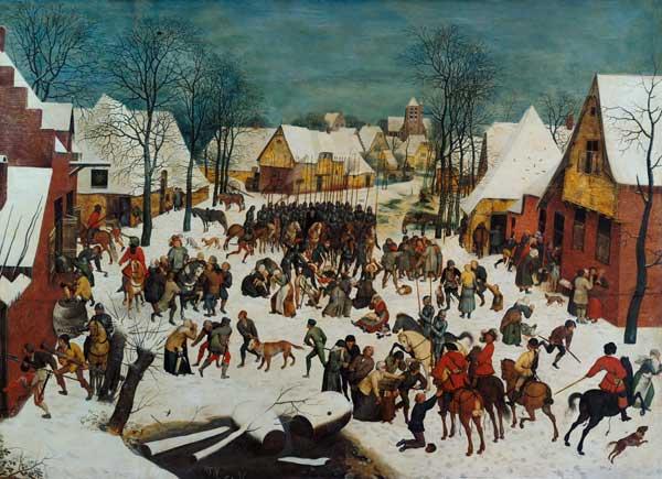A Winter Scene With Massacre Of The Inno Pieter Brueghel