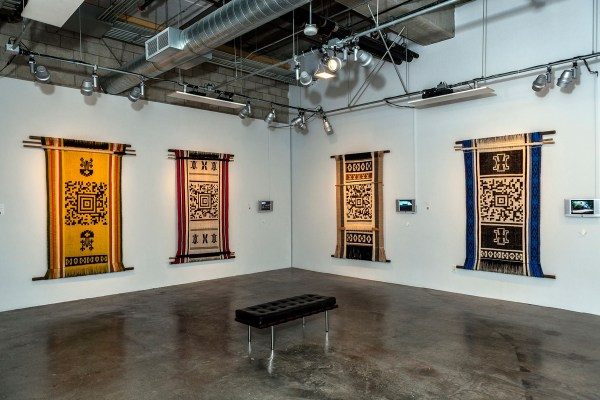 Artist Guillermo Bert Weaves Qr Codes Indigenous Tapestries