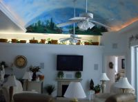 Decorative vaulted ceiling design idea for small family ...