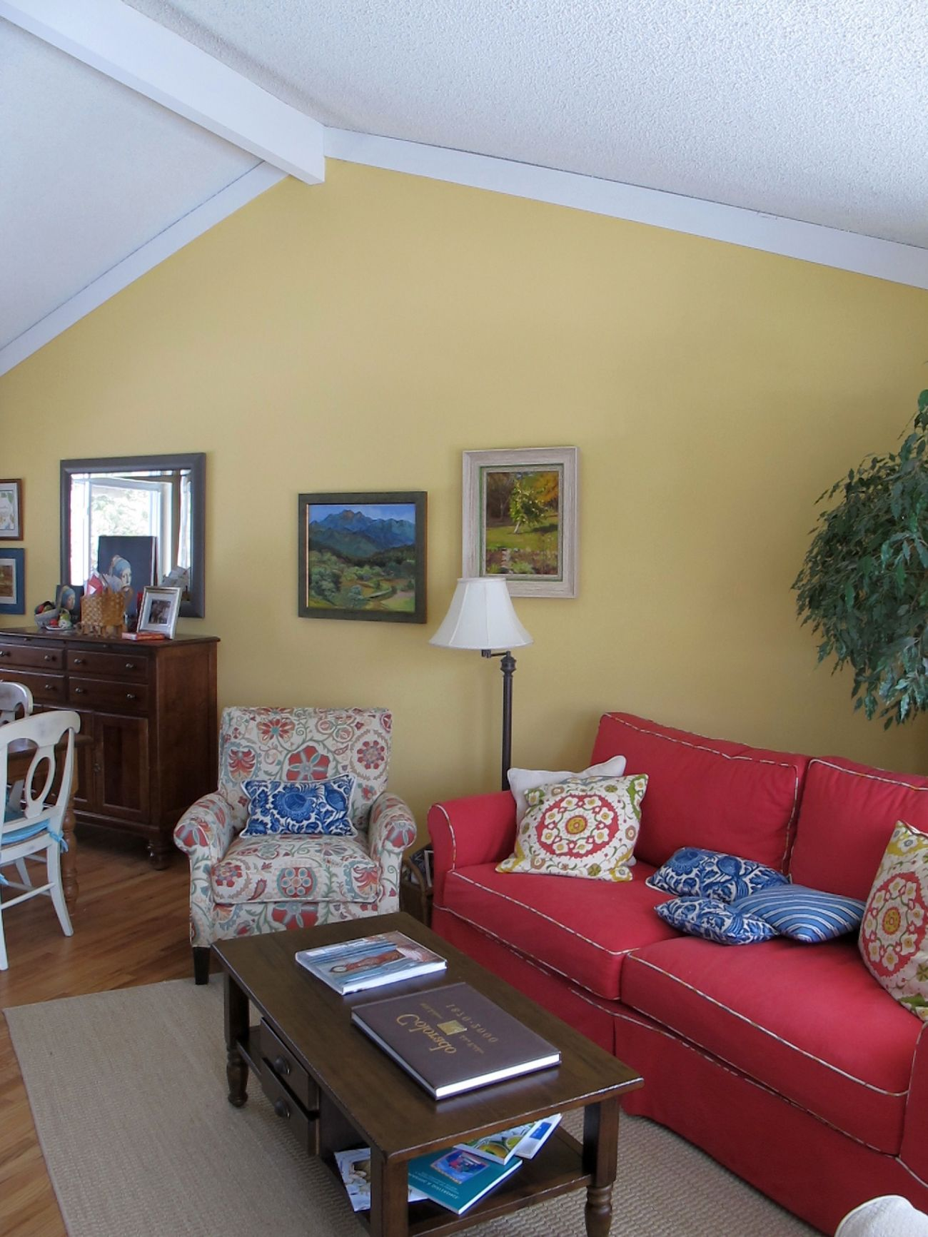 Vaulted Ceiling in Living Room Decorating Ideas