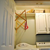 hanging laundry room clothes hanger racks designs for ...