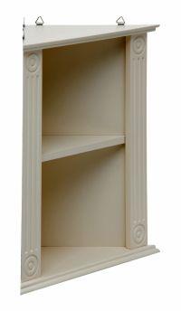 short and basic small corner shelving unit