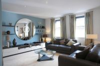 Light Blue And Brown Living Room. Stunning Best Silver ...