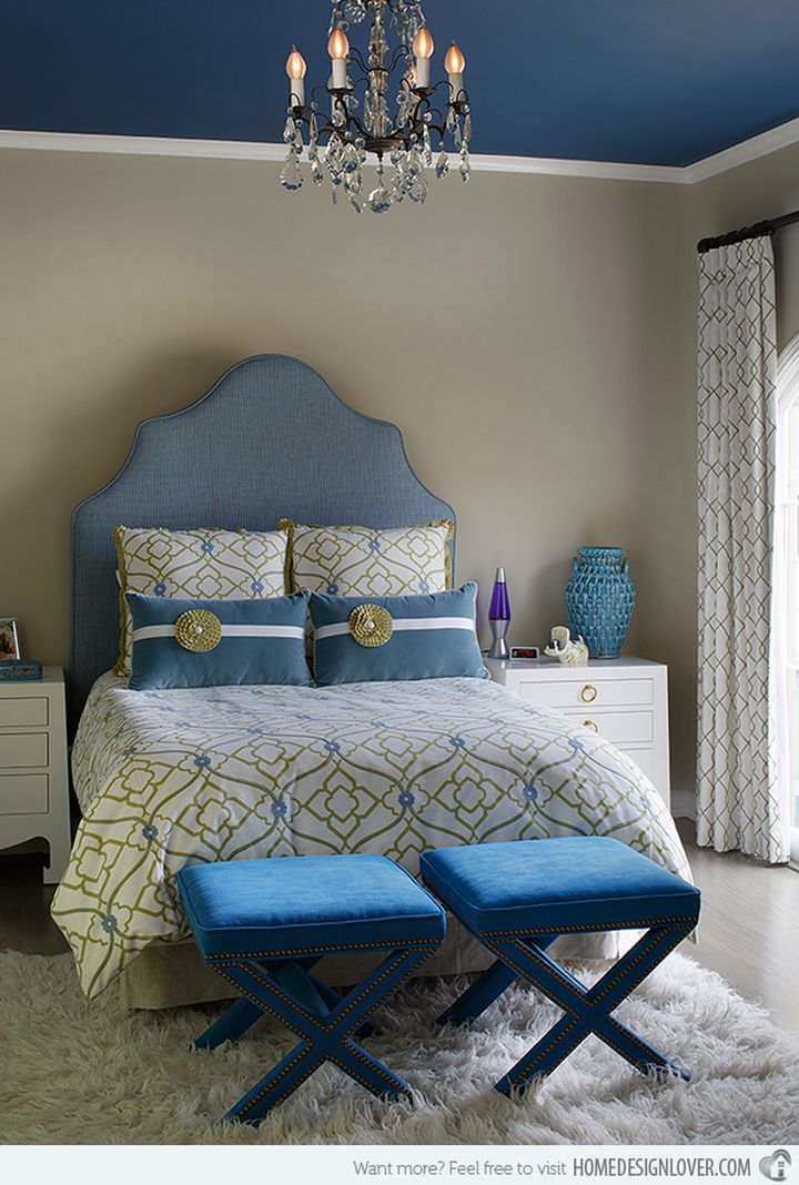 Cute House Wallpaper 20 Deluxe Blue And Gold Bedroom Designs