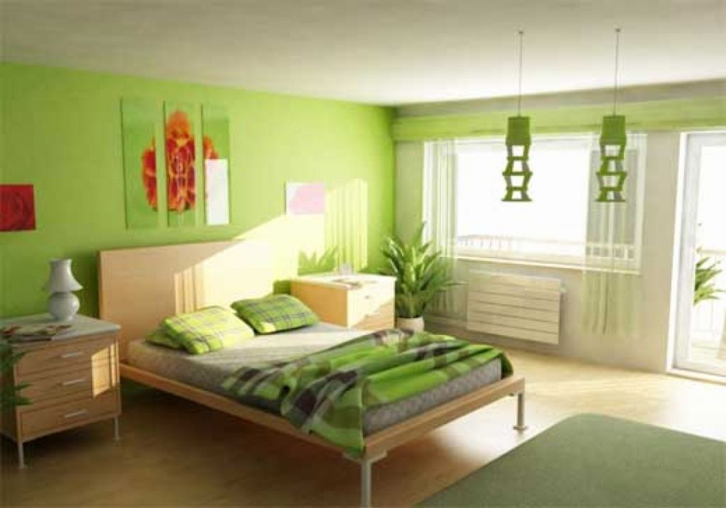 bright green relaxing paint colors for bedrooms