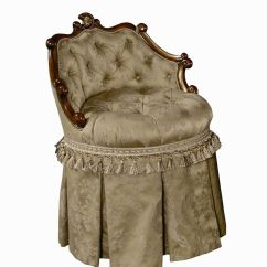 Swivel Chair Regal Large Lounge Classic And Vanity With Skirt