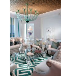 17 Breathtaking Turquoise Living Room Ideas