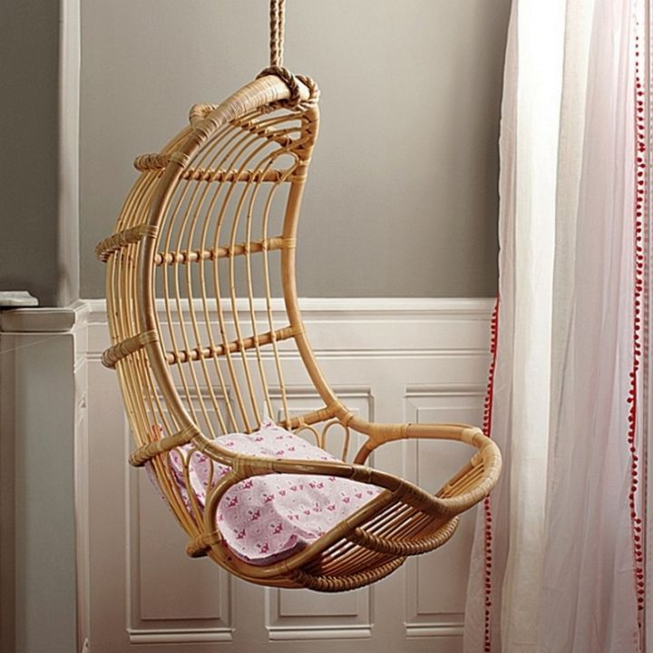 eggshell shaped bedroom swing chair