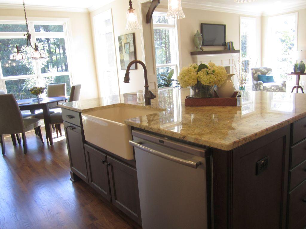 20 Elegant Designs Of Kitchen Island With Sink