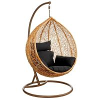 fake hanging modern papasan chair