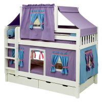 half tent unique beds for girls
