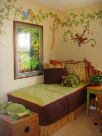 jungle themed kids rooms paint ideas