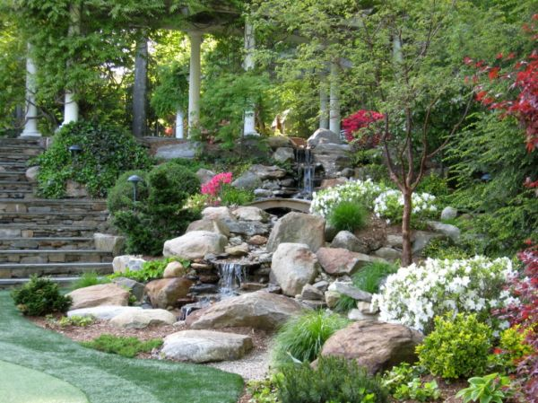 landscaping design with big