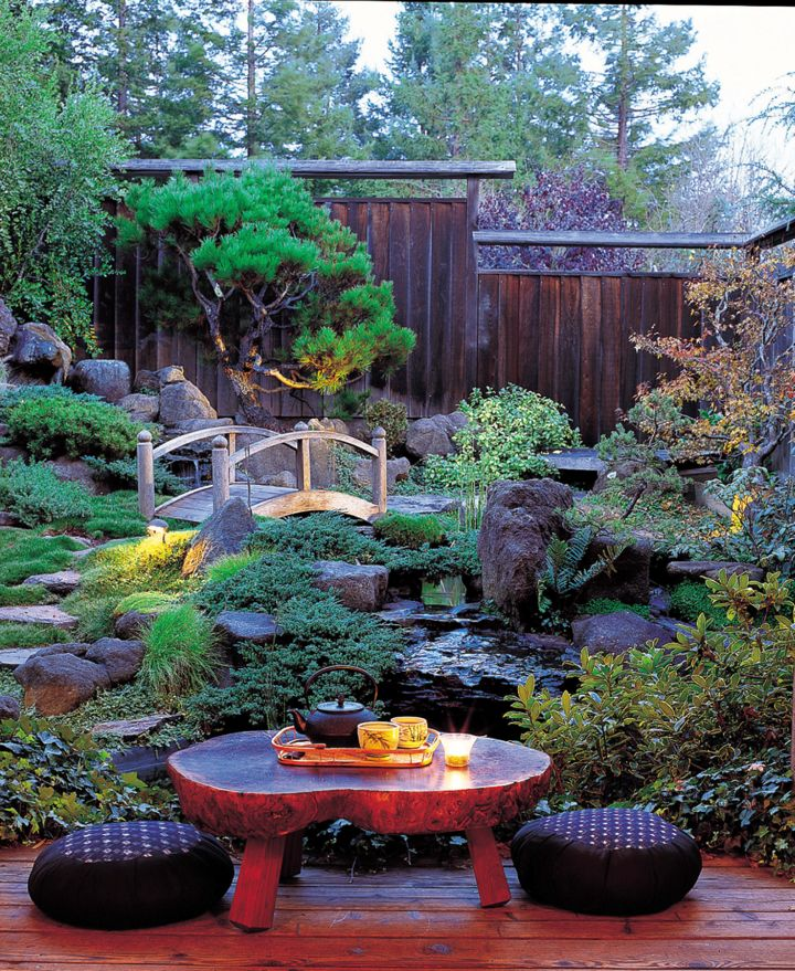 peaceful green japanese style
