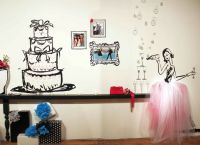 party girl pink and black wall decor