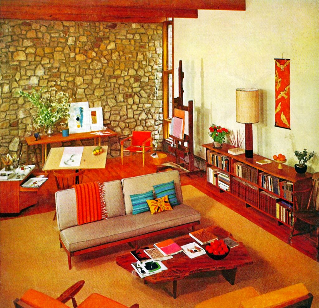 retro living room ideas with wooden floor