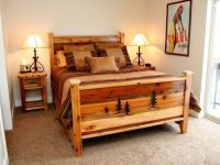 rustic bed plans for guest room