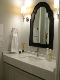 simple Bathroom vanity lighting ideas for single sink