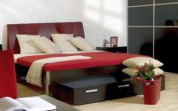 simple and modern red black and white bedroom ideas