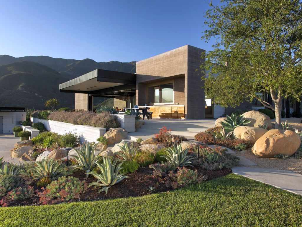 simple contemporary landscaping