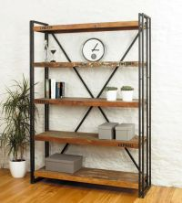 simple vintage industrial bookcase designs