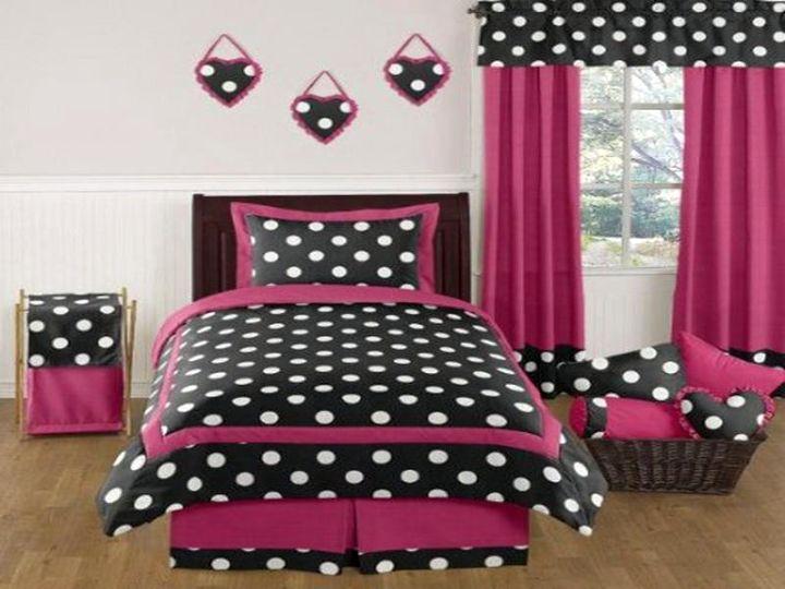 And Pink Black Dot Polka Bedrooms