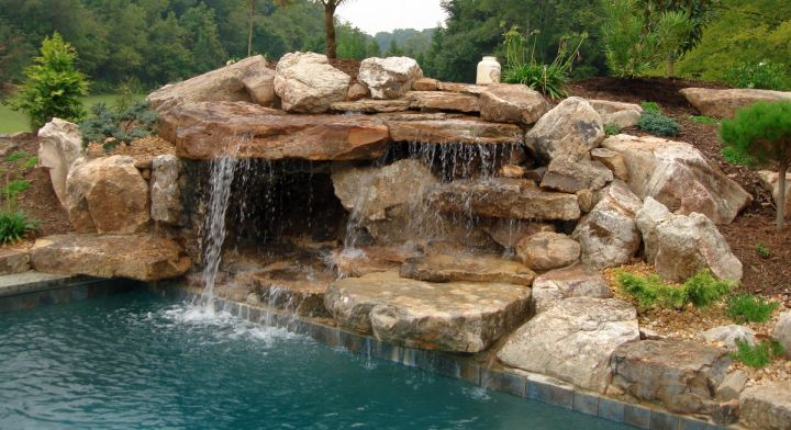 17 Fascinating Pools With Waterfalls Ideas