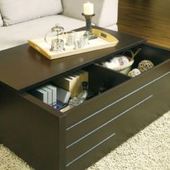 Pacific Living Room Coffee Table Trunk Chest Sofa Design For Small With Slide Top