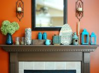 turquoise living room decor set