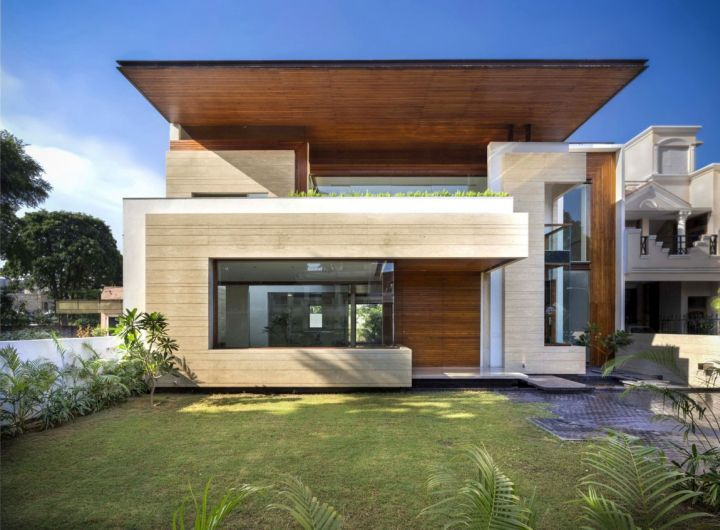 Fascinating Modern House By Charged Voids Punjab India