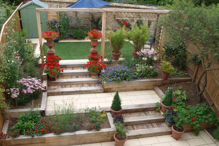 fantastic terraced flower garden