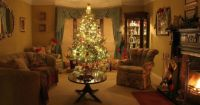 warm and cozy christmas room