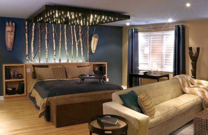 unique bedroom room decorating ideas Sporty Bachelor Bedroom Decorating Ideas