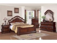 cozy tuscany bedroom furniture sets in dark wood