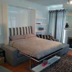 Murphy Bed In Small Living Room End Table Decorating Ideas Simple Couch Suited For Interior