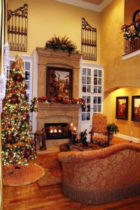warm tuscan living room colors with polished wooden floor ...