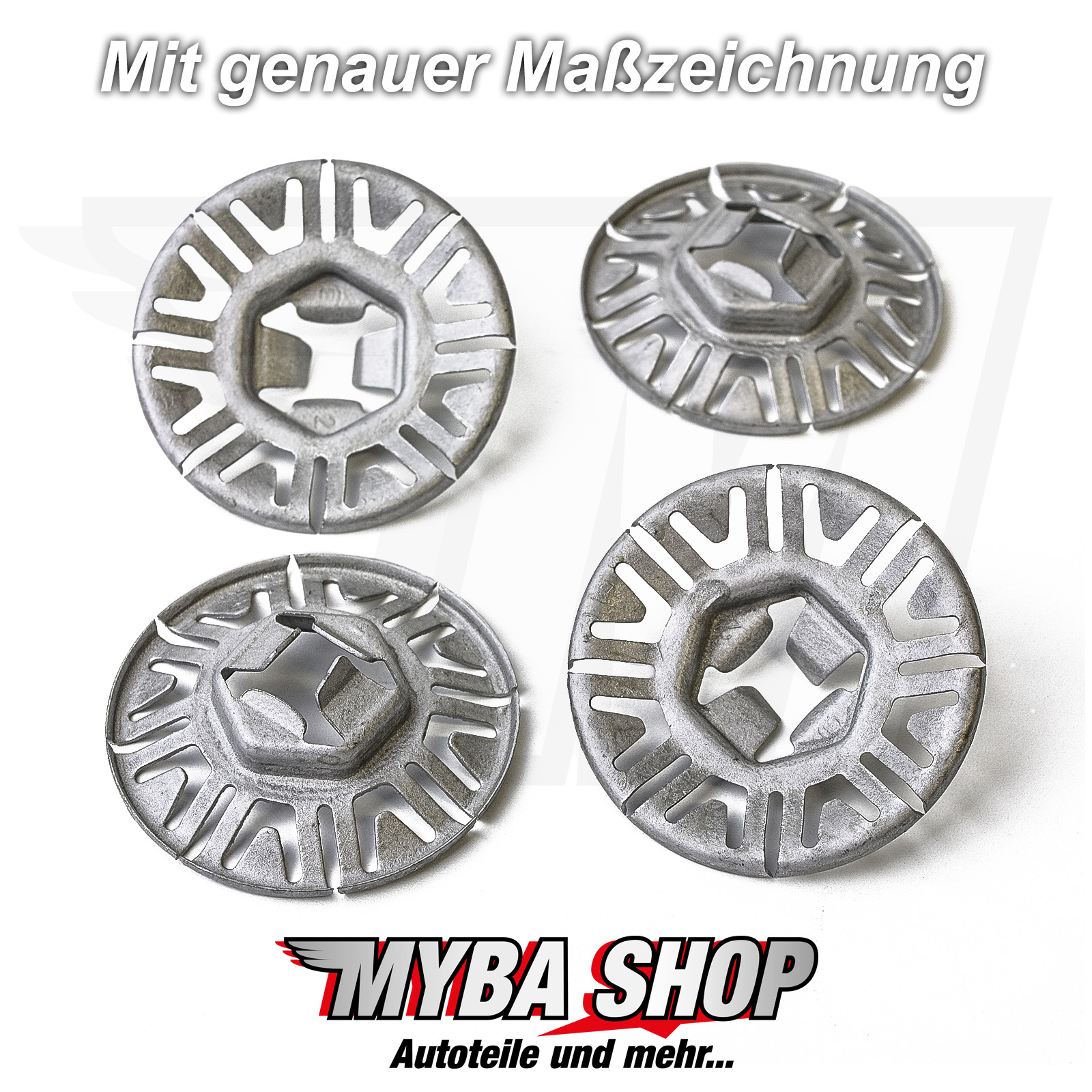 20x Metal Mounting Clip Clamp Washer For Vw Audi Seat