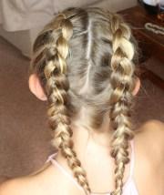 double dutch plait girl's hair