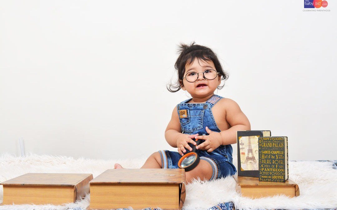 Book Theme Baby Photoshoot